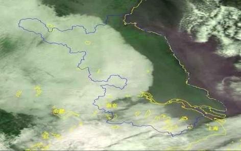 NOAA17气象卫星大雾遥感监测图(江苏省)