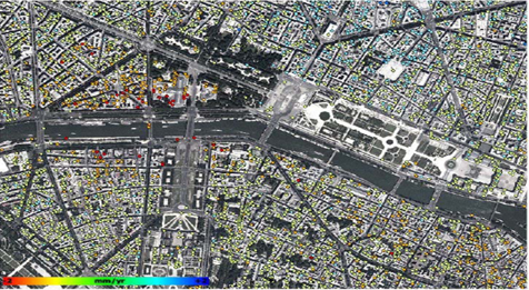 城市地标沉降速度监测