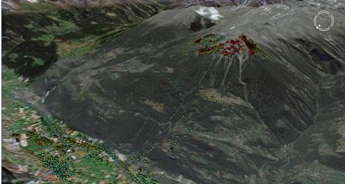 监测矿山地表沉降速率